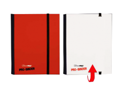 ALBUM-4-POCKET-PAGE---FLIP-PRO-BINDER-RED---WHITE