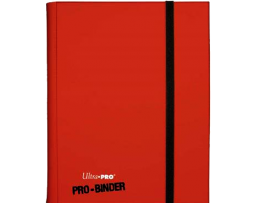 ALBUM-9-POCKET-PAGES---PRO-BINDER-RED