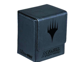 DECK-BOX-MAGIC-FLIP-TOP-BOX-MANA-PLANESWALKER-GREY
