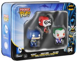 FUNKO TIN POCKET POP: DC COMICS: BATMAN, HARLEY QUINN, JOKER