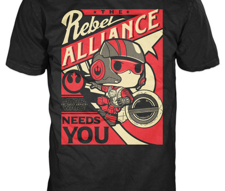 FUNKO POP! Tees – StarWars Po Dameron Rebel Alliance
