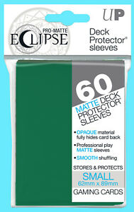 Ultra Pro Eclipse Pro Matte Deck Protector 60 Sleeves Green (62mmx89mm)