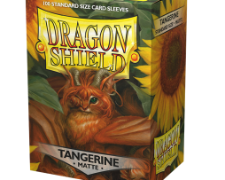 Dragon Shield Tangerine Matte 100 Sleeves (63mmx88mm)