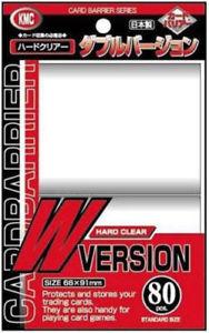 KMC Card Barrier Series W Clear Standard 80 Sleeves (66mmx91mm)